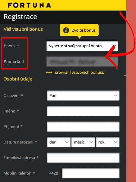 Fortuna Promo Kód